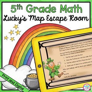 5th Grade Math Escape Room Lucky's Map