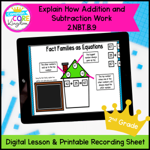 Explaining Addition and Subtraction Mini Lesson Google Slides Distance Learning
