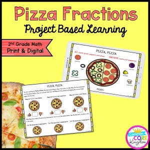 Pizza Fraction Project Learning for 2nd Grade