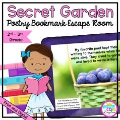 Secret Garden Poetry Escape Room for 2nd & 3rd Grade helps make poetry fun