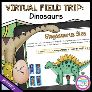 Virtual Field Trip to see Dinosaurs for 1st Grade in Google Slides & Seesaw Format