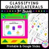 Classifying Quadrilaterals Unit for Google Slides Distance Learning 3.GA.1