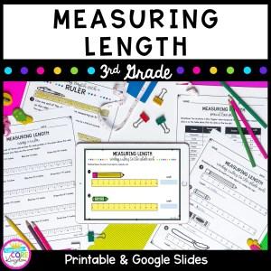 Measuring Length Unit for Google Slides Distance Learning 3.MD.B.4