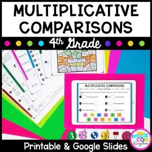 Multiplicative Comparisons Unit - Google Slides Distance Learning 4.OA.A.1