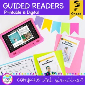 5th Grade Guided Readers: Compare Text Structure RI.5.5