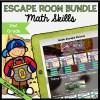 Math Escape Room GROWING Bundle - 2nd Grade in Printable & Digital Format