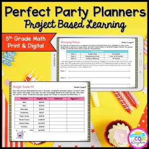 5th Grade Perfect Party Planners Project Based Learning in Printable & Google Slides Format