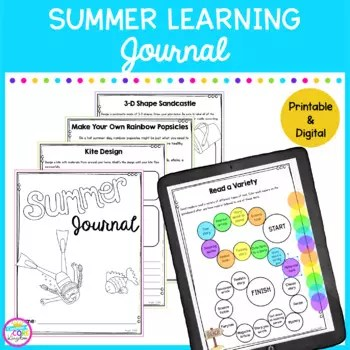 Summer Learning Journal for students to stay engaged in learning during the summer and to prevent the summer slide.