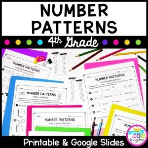 Number Patterns - Google Slides Distance Learning 4.OA.C.5