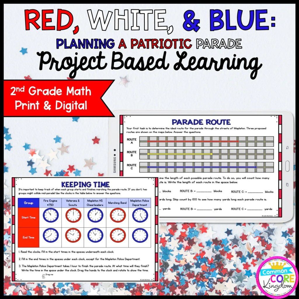 Patriotic Parade Project Learning - 2nd - Printable & Google Distance Learning