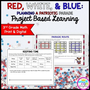 Patriotic Parade Project Learning - 3rd - Printable & Google Distance Learning