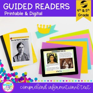 Guided Reading Packet: Comprehend Informational Text - 4th & 5th Grade RI.4.10 RI.5.10 - Printable & Digital