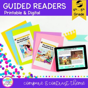 4th Grade Compare & Contrast Theme and Topic Guided Readers RL.4.9