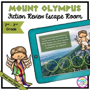 Mount Olympus Greek Mythology Escape Room - 2nd & 3rd Grade - Digital & Printable