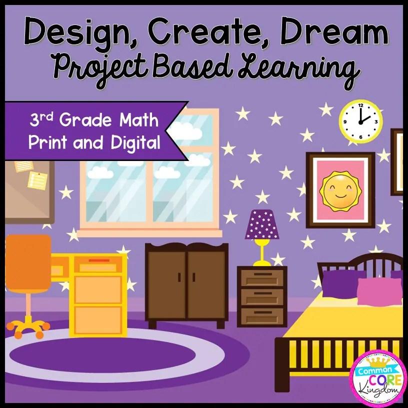 Design a Bedroom Math Project Based Learning - 3rd - Printable & Google Slides