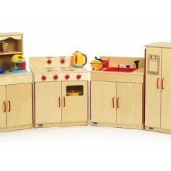 Wood Kitchen Set Kohler Cast Iron Sink Play Discount School Supply Preschool Sets
