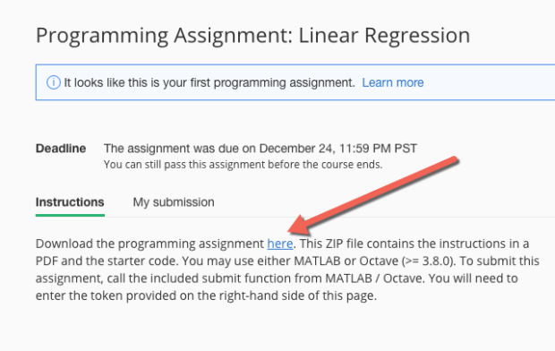 MATLAB for Coursera - Machine Learning - common denial