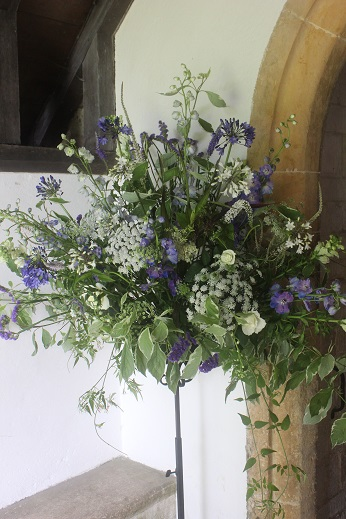 Blue and white flowers for a West Country Wedding  The Flower Farmers Year at Common Farm Flowers