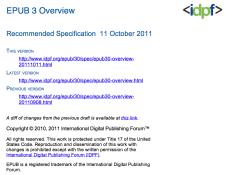 EPUB 3 Overview screenshot