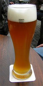 Traditional Wheat Beer Glass
