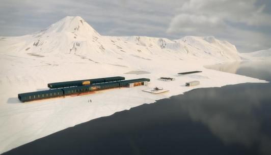 Comandante Ferraz Antarctic research station. Image: Estudio 41