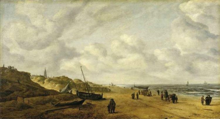 Scheveningen Sands by Hendrick van Anthonissen as it appeared prior to restoration.