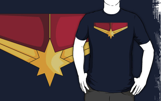 Captain Marvel Shirt Design