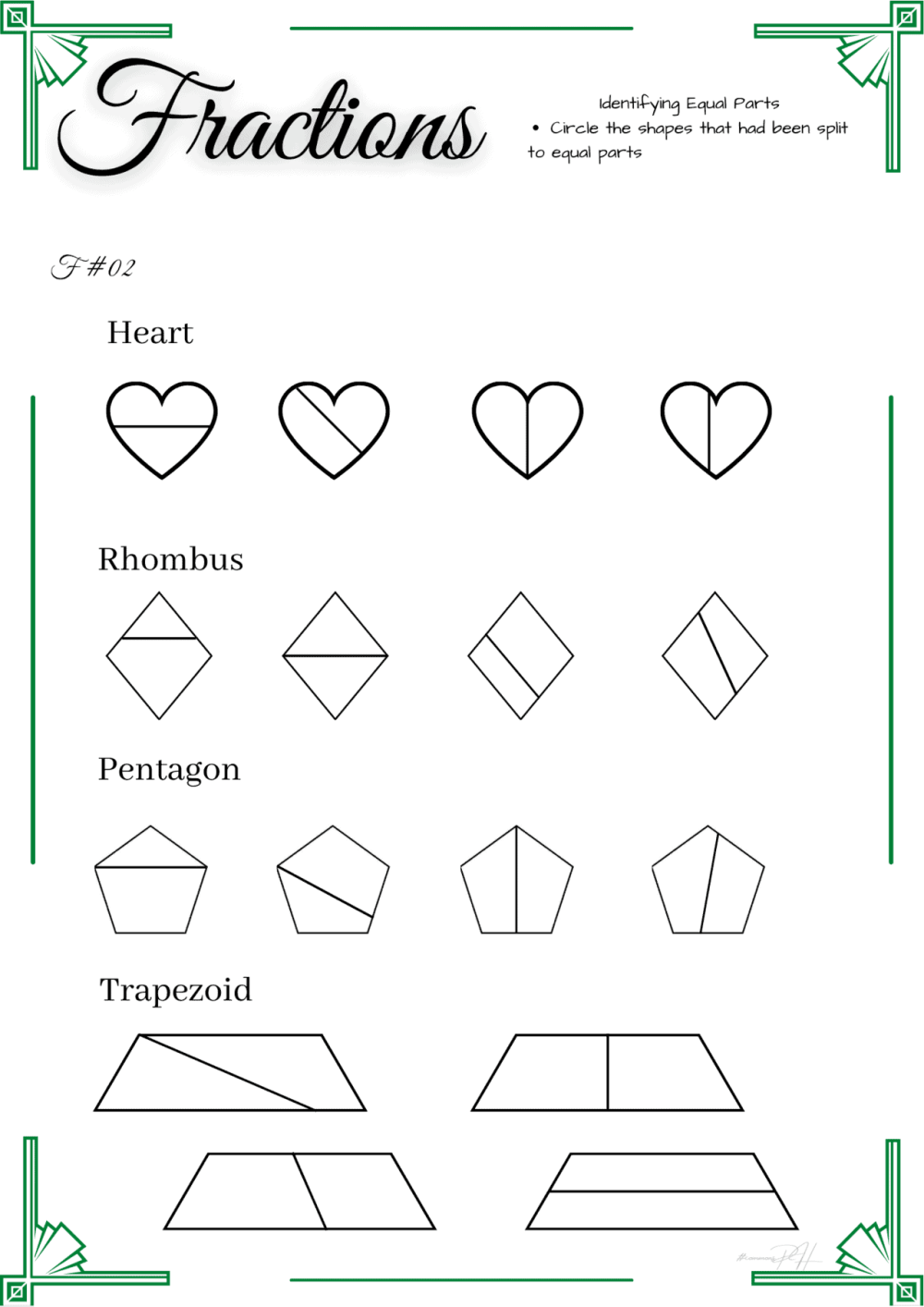 medium resolution of Equal Shapes Worksheet   Printable Worksheets and Activities for Teachers