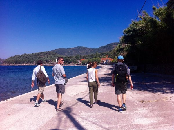Our reporting team in Skala Sykamineas