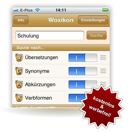 Woxikon iPhone App