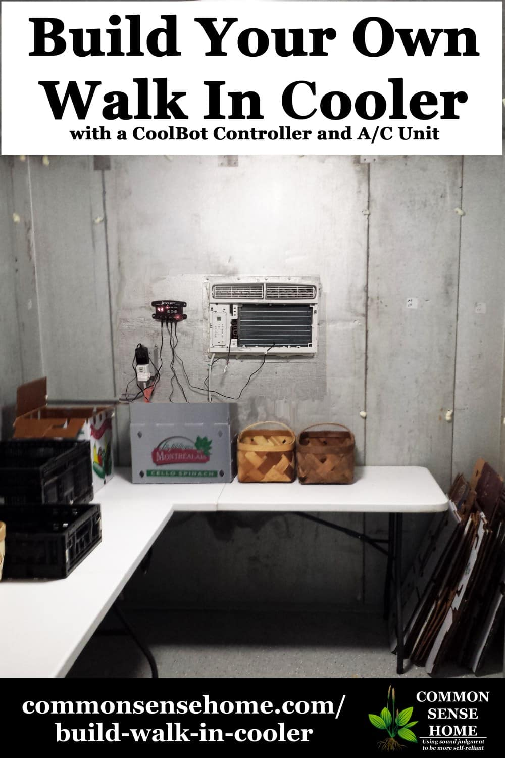 build your own walk in cooler with a