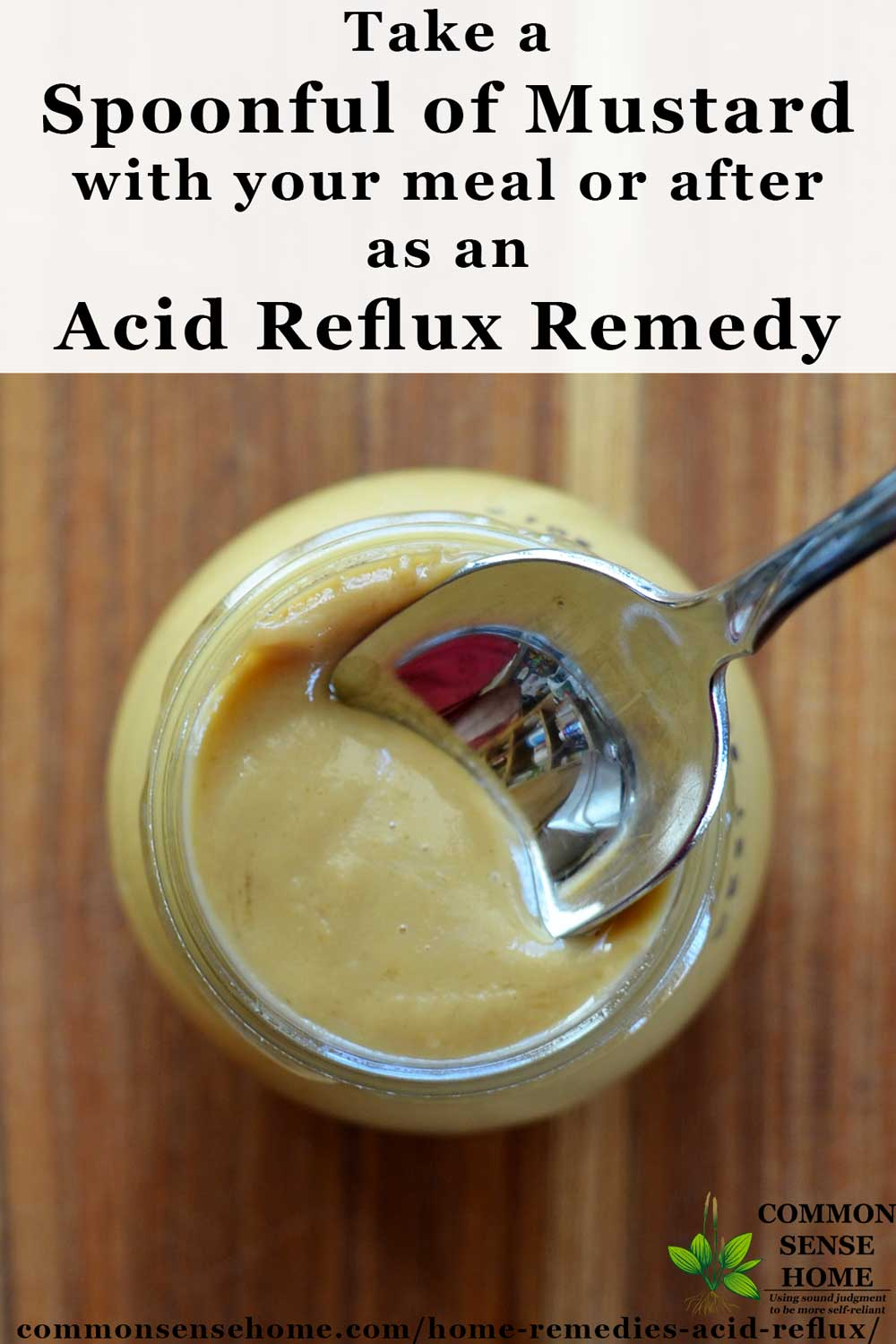 Mustard for acid reflux remedy