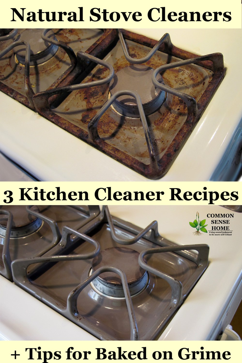 hight resolution of stove cleaner before and after