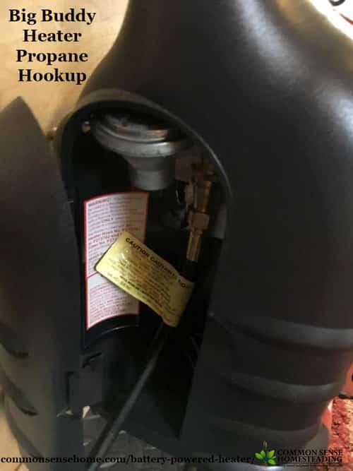 Propane Hookup of Big Buddy Indoor Propane Heater