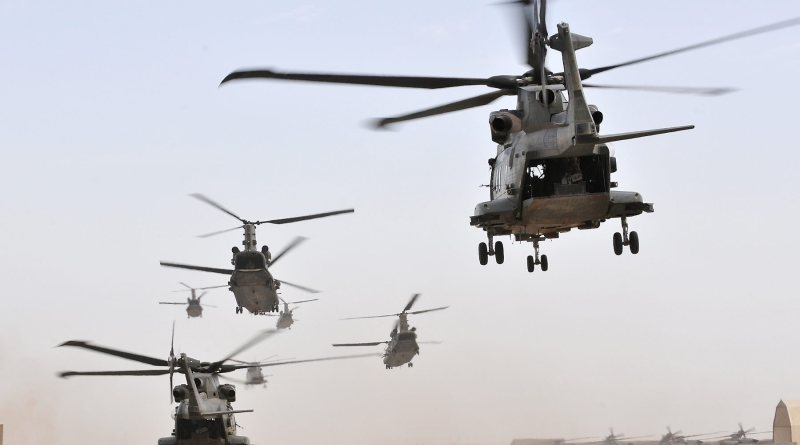 UK military helicopters
