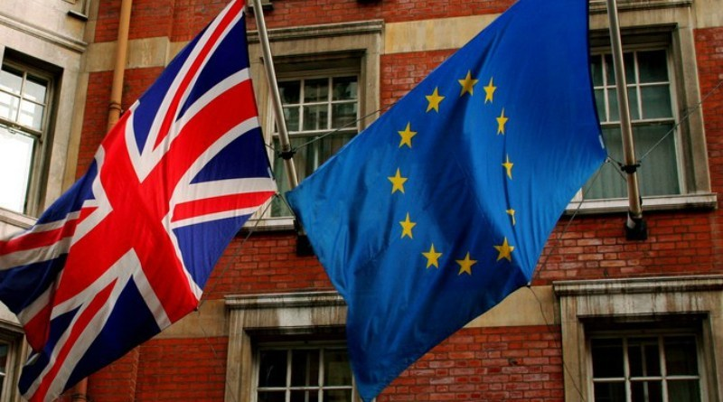 The UK and EU Flags side by side