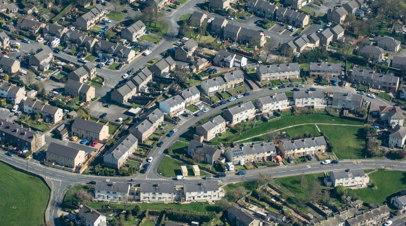 Aerial image of UK homes
