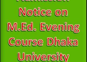 M.Ed. Evening Course