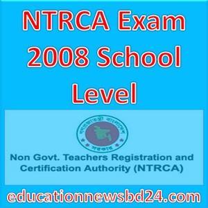 NTRCA Exam 2008 School Level