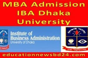 MBA Admission IBA Dhaka University