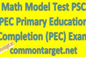 Math Model Test PSC PEC