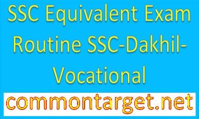 Routine SSC Dakhil Vocational 2017 All Education Board BD