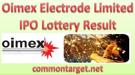 Oimex Electrode Limited IPO Lottery Result