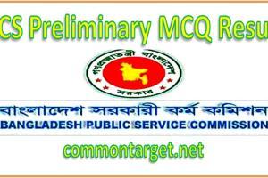 BCS Preliminary MCQ Result