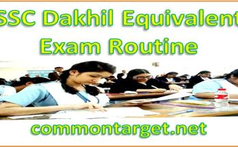 SSC Dakhil Vocational Exam Routine 2021