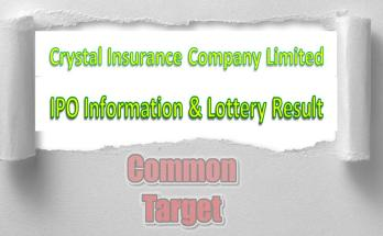 Crystal Insurance Company Limited IPO Information & Lottery Result