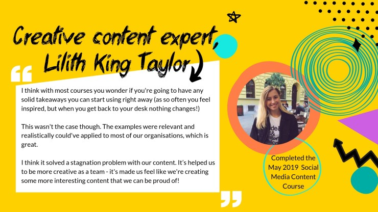 Testimonial from Lilith King Taylor