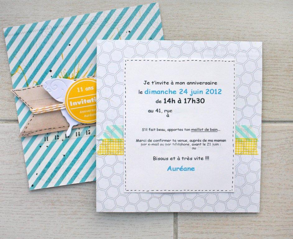cartes d invitation anniversaire