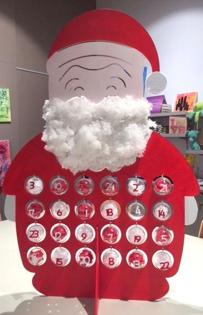 Calendrier De L'avent Pere Noel : calendrier, l'avent, Père, Noël, Calendrier, L'avent