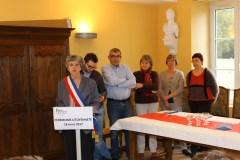Mme le maire délégué et quelques élus